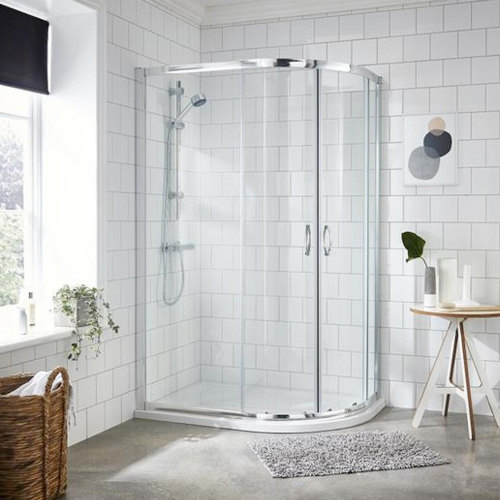 Matrix Chrome 1000mm x 800mm Offset Quadrant Shower Enclosure